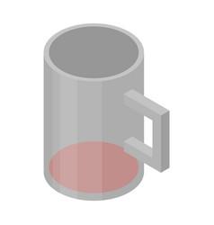Wine mug icon isometric style vector
