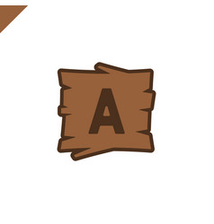 Wooden alphabet or font blocks with letter vector