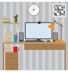 Workstation for use with the computer Large vector