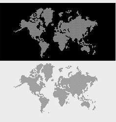 World map dots style vector