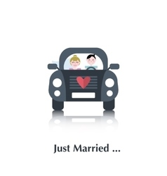 Young marriage icon vector image