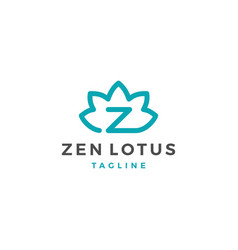 zen lotus z letter logo icon template vector image