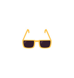 flat sunglasses isolated vector image vector image