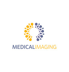 brain hemispheres logo round shapes abstract vector image vector image