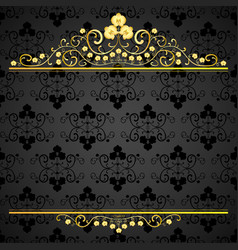 golden curls with orchids vector image