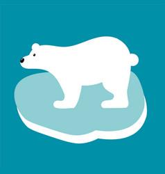 polar bear in flat style vector image vector image