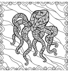 Stylized octopus vector image vector image