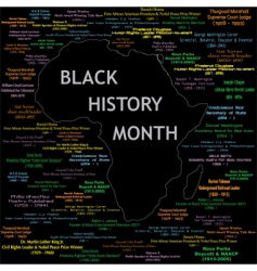black history month vector image vector image