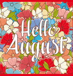 hello august text retail message vector image vector image