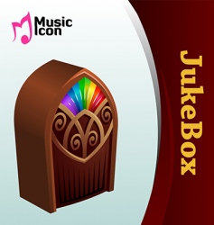 music jukebox vector image vector image