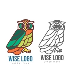 Set of colorful owl logo templates vector image vector image