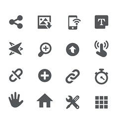 System Icons - Apps Interface vector image vector image