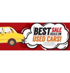 Used Car Best Sale Deal 6250x2500 pixel Banner vector image vector image