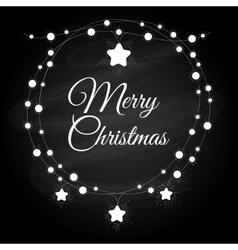 Vintage christmas wreath vector image vector image
