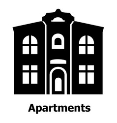 apartments icon simple black style vector image