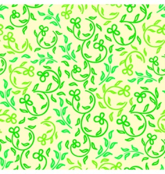 bright spring flowers seamless pattern vector image vector image