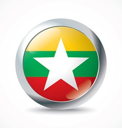 Burma flag button vector image
