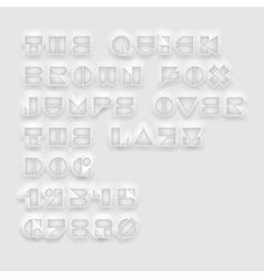 Geometric cutout white font vector image vector image