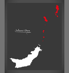 sulawesi utara indonesia map with indonesian vector image vector image