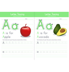 A for apple and for avocado vector