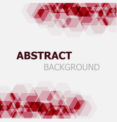 Abstract maroon hexagon overlapping background vector