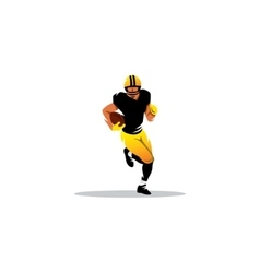 american football sign a player running vector image