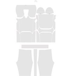 American jersey pant uniform adjust pattern vector