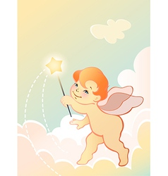 angel baby vector image