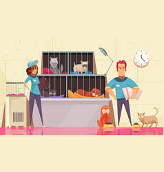 animal shelter horizontal vector image