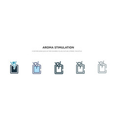 Aroma stimulation icon in different style two vector