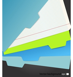Background of color sheets vector image