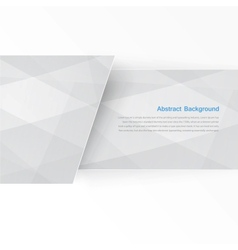 banner background White line paper origami vector image