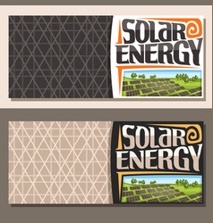Banners for solar energy vector