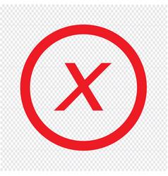 basic font letter x icon design vector image
