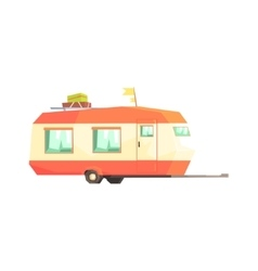 Big Family Travelling Trailer vector