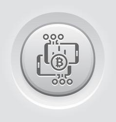 bitcoin transaction button icon vector image