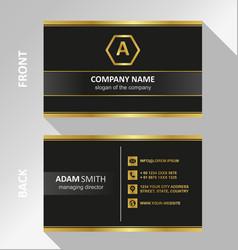 Black dark business card modern flat design vector