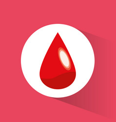 Blood drop donate symbol vector