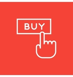Buy button line icon vector image