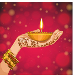 card for henna night vector image
