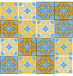 Ceramic tile pattern with flowers vector