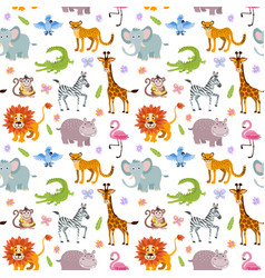children seamless wallpaper with cute vector image