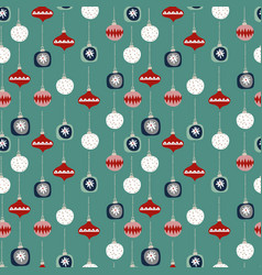 christmas seamless pattern with colorful vector image