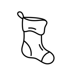 Christmas socks line icon concept sign outline vector