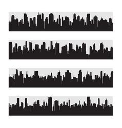 city skyline flat style vector image