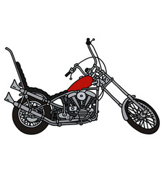 Classic red chopper vector