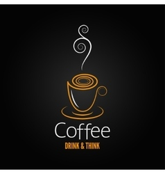 Coffee cup abstract ornate design background vector