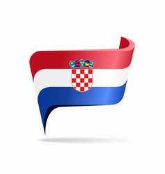 Croatian flag map pointer layout vector
