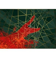 Crocodile attack mosaic vector image