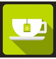 Cup of tea icon flat style vector image